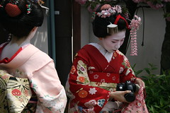 geisha(1.0), flower(1.0), clothing(1.0), tradition(1.0), kimono(1.0), woman(1.0), female(1.0), costume(1.0), person(1.0),
