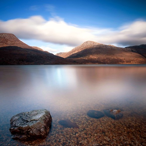 mountains scotland highlands rocks long exposure lee loch cpf maree slioch torridon
