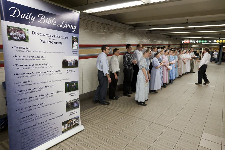 Mennonite Chorus  Union Square Station NYC 5 21 11