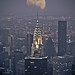 Chrysler building with moon view at night by Pushkr.
