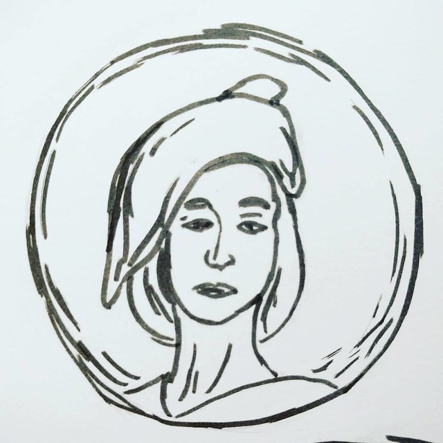 #inktober d4 inspired by the Natalie Brettschneider exhibition at the art gallery of greater Victoria