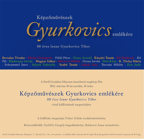 Gyurkovics Tibor kamarakiállítás