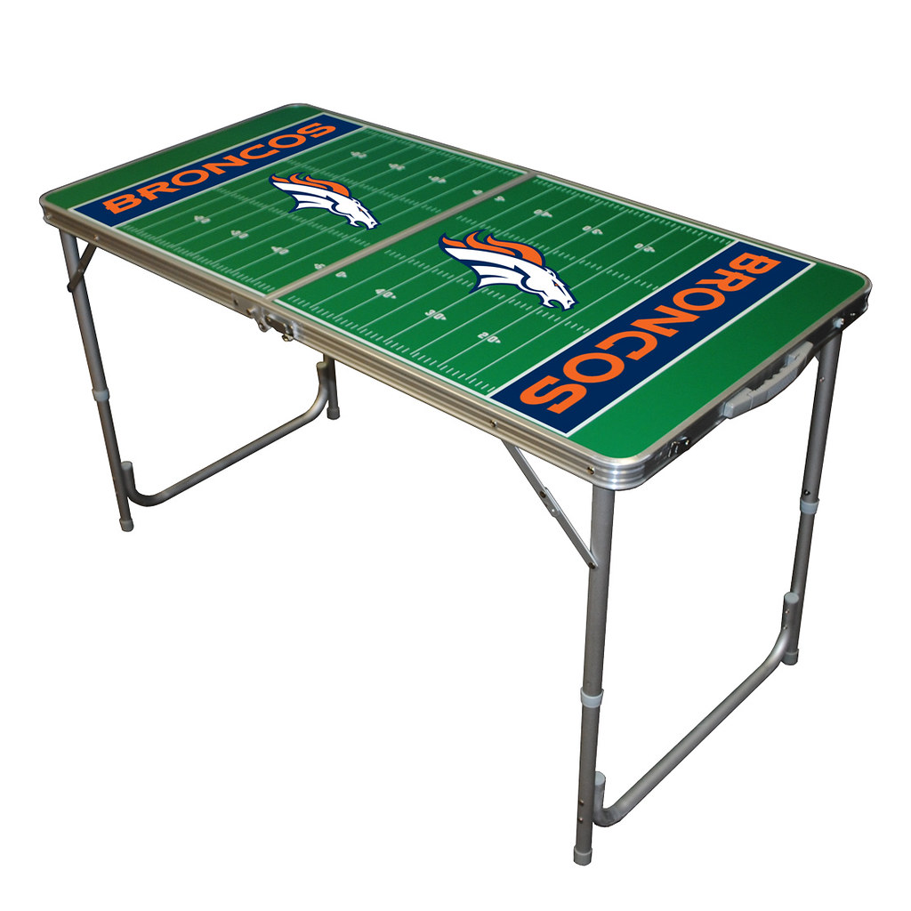 Denver broncos tailgate table perfect for tailgating for Table 6 in denver