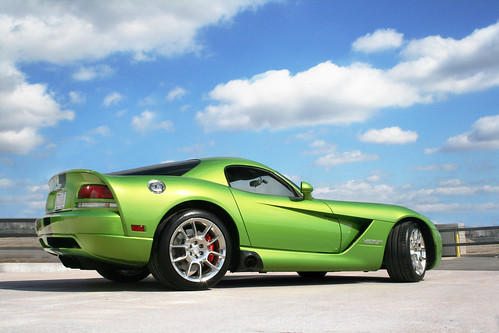 green shiny skin snake wheels h dodge lime viper 2008 coupe snakeskin srt10