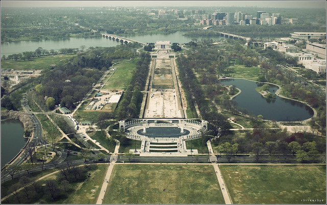 I went to DC with my brother and took pictures from the top of the washington monument before the earthquake lol