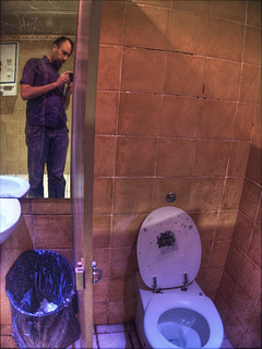 self portrait with club toilet
