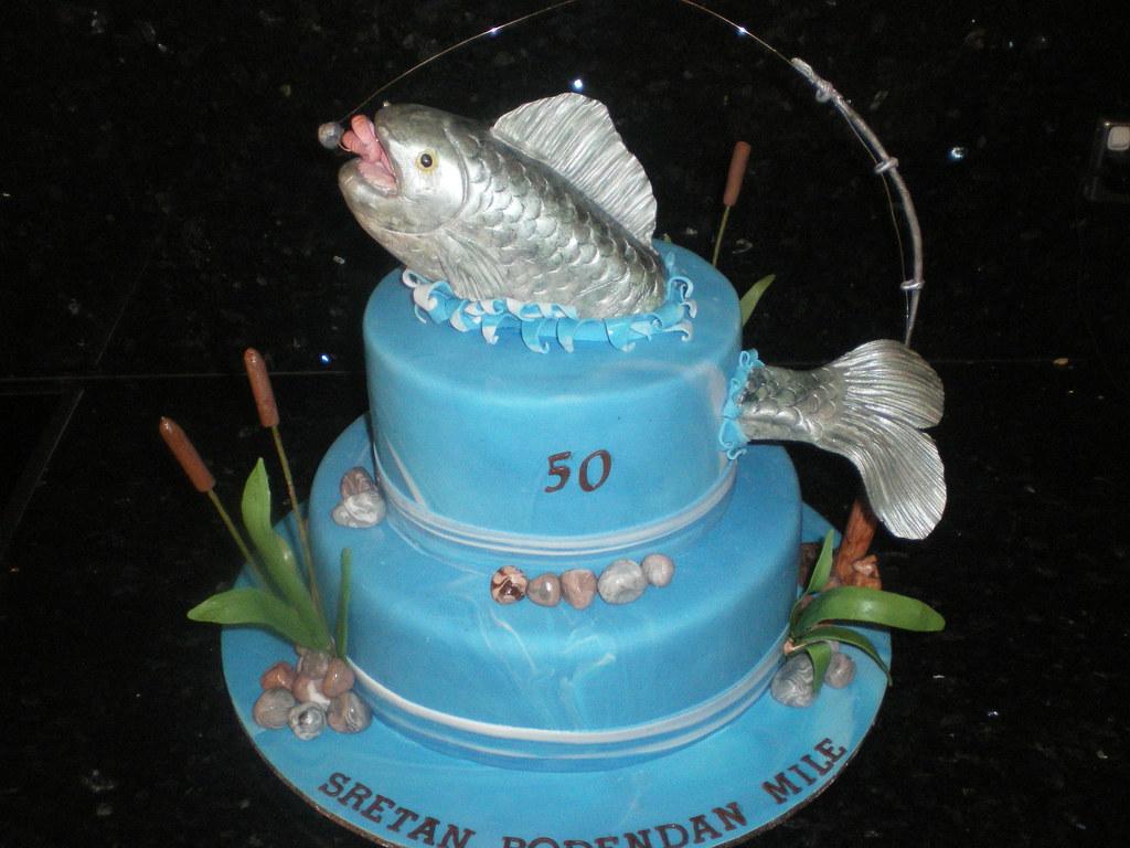 Fishing cake birthday cake ideas and designs for Fishing birthday cake