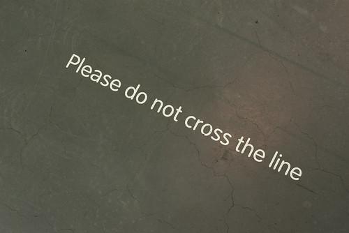 [please do not cross the line]