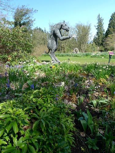 Minotaur in Spring garden