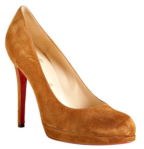 62d1569368 Christian Louboutin tan suede 'New Simple 120' platform pumps by christian  louboutin sale