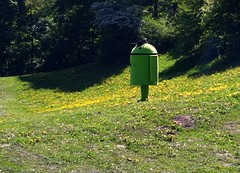Android needs a break - caught in the English Garden in Munich