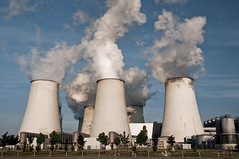 industry, cooling tower, power station, nuclear power plant,