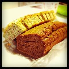 バナナとココアのケーキが量産されておったとは
