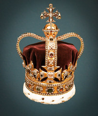 St. Edward's Crown at The Crown Jewels - Tower of London