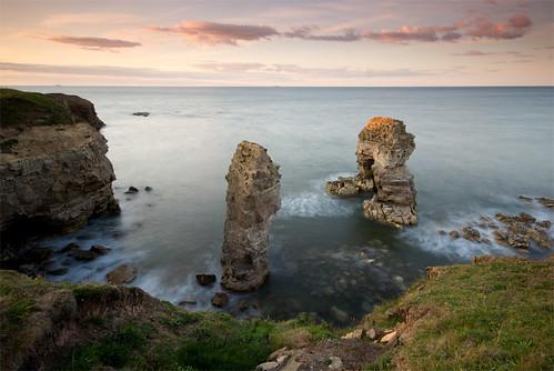 longexposure sunset seascape coast arch dusk stack erosion northumbria northsea coastline nationaltrust gitzo marsden clifftop whitburn tyneandwear southtyneside northeastengland sigma1020 leefilters koodfilters steveboote canoneos550d