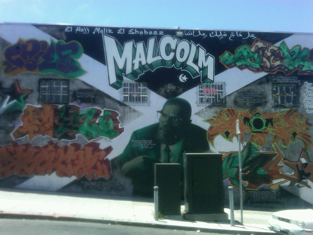 Malcolm x san francisco mural by feeb flickr for Malcolm x mural