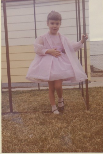 full pink dress, about 1960 or 1961