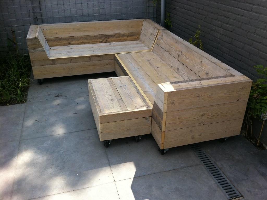 Tuinbank in steigerhout op maat te koop dehands be
