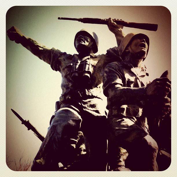 South Korean monument near DMZ