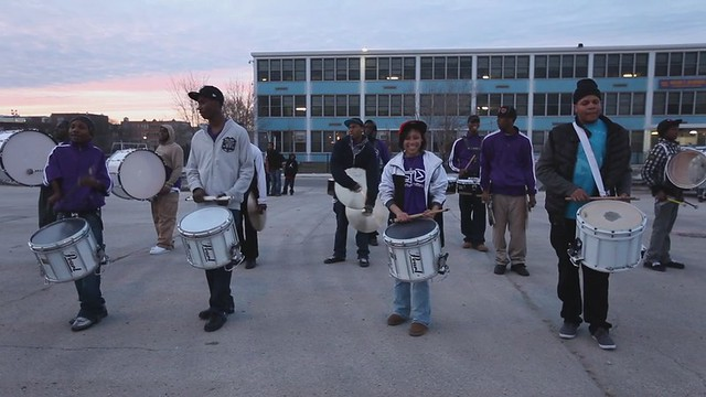 ThaBrigade Stamps Marching Band at Cabrini-Green