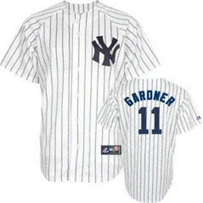 new style bc26e 4b8e2 New York Yankees #11 Brett Gardner White Jersey | cheap New ...