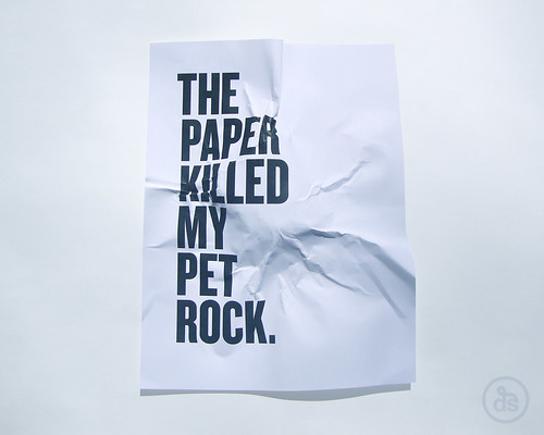 The Paper Killed My Pet Rock