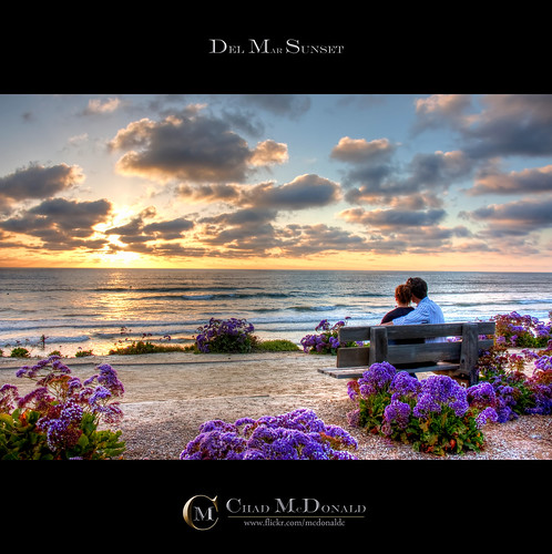 ocean california ca sunset usa sun beach clouds bench dawn evening coast high sand waves dynamic pacific sandiego rays range hdr delmar