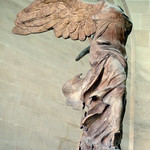 Nike of Samothrace from the left