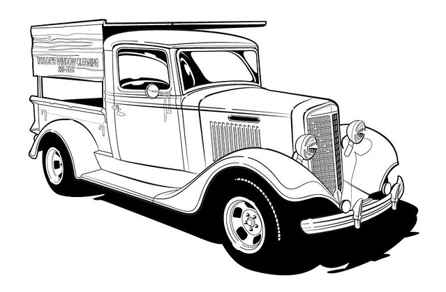 Line Art Truck : Window cleaning truck line art flickr photo sharing