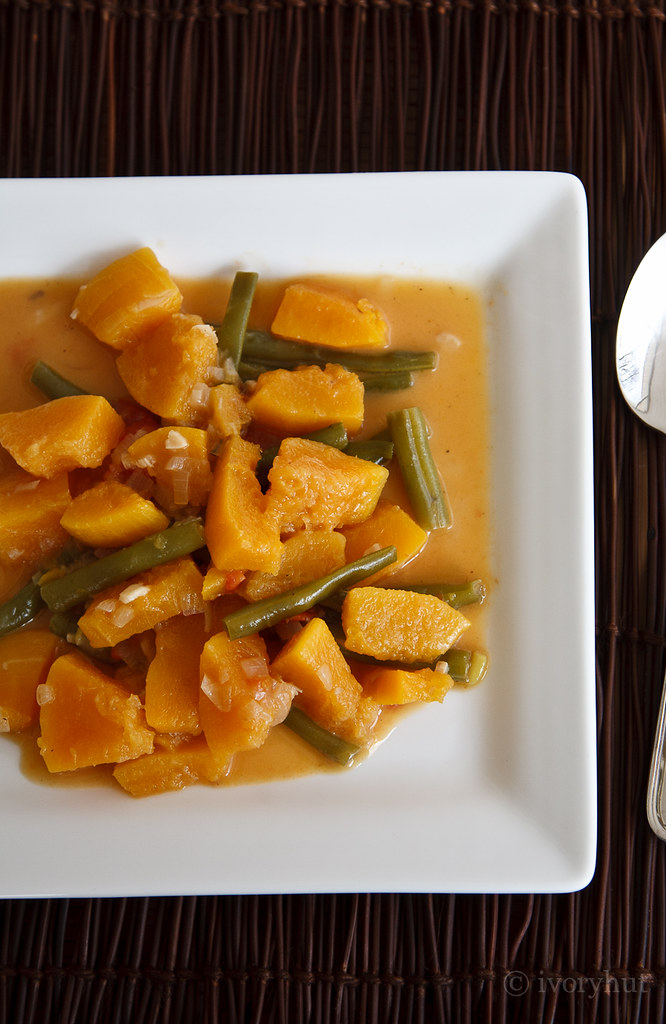 ivoryhut Squash and Green Beans in Coconut Milk