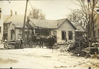 Horse Drawn Wagon, Dayton, OH - 1913 Flood