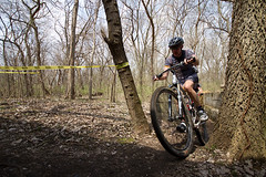 RIPPING it through the trees...