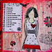 she art journal red black