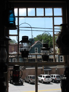 B&O museum - lanterns in the window