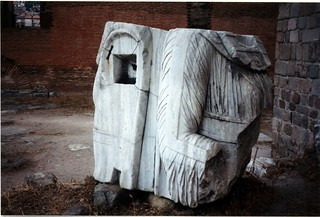 Fragment of tetrarchs maybe in Pergamon museum grounds?