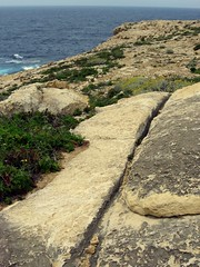 Cart ruts, Dwejra Bay