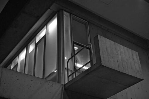architecture night handheld nikonf brutalism kodaktrix400 nikkor50mmf12 diafinedeveloper bwblackandwhitebw siusouthernillinoisuniversity