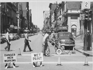 Painting Crosswalk 1953