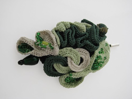 Freeform Green Brooch