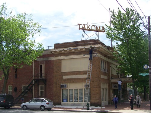 Painting at the Takoma Theatre