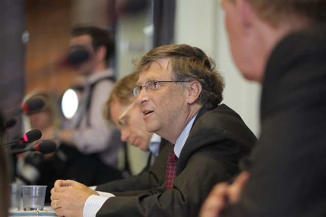 Bill Gates Addressing Health Ministers at Meeting on Polio Organized by the ...