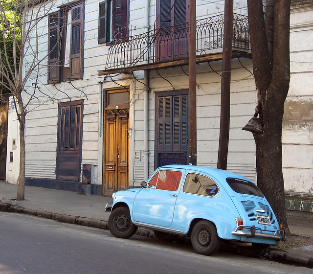 [2007] Old Fiat 600 Old Fiat 600, light blue, taken outside a house in Buenos Aires, in 2013