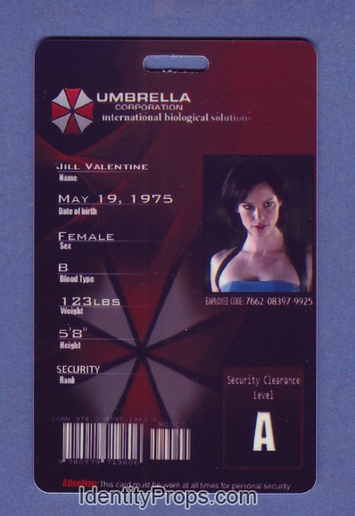 RESIDENT EVIL™ Umbrella Corp. and S.T.A.R.S. Vehicle I.D