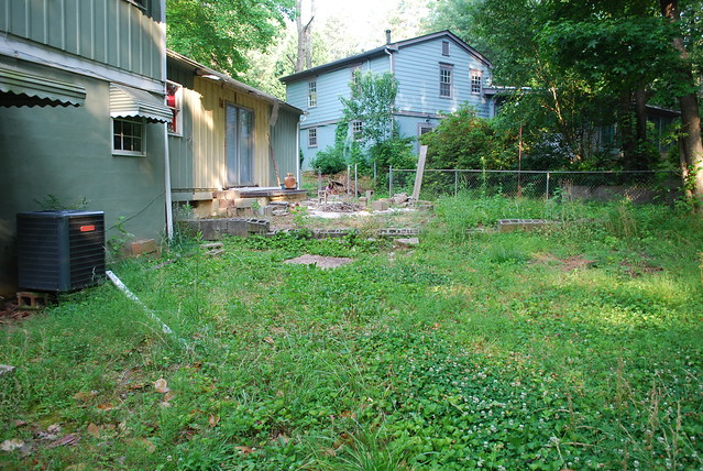Before: our backyard