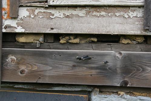 Hand-hewn timbers