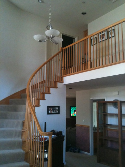 Foyer With Chair Rail : Need help with paint choices two story foyer w chair rail