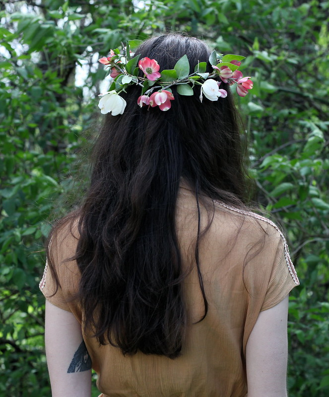 dogwood floral crown