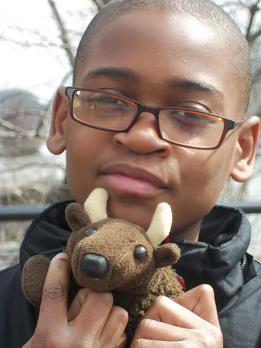 Buddy Bison and friend at FLOC outdoor education center