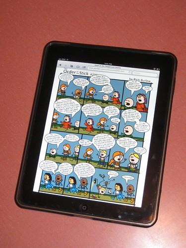 Reading webcomics on the ipad