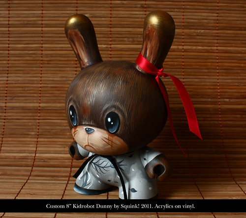 "Daydreams - 8"" Dunny custom - side"